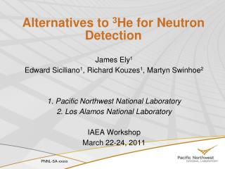 Alternatives  to  3 He for Neutron Detection