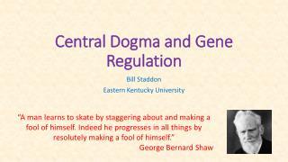 Central Dogma and Gene Regulation