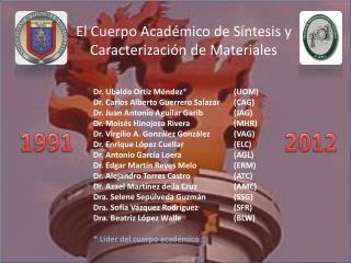 El Cuerpo Académico de Síntesis y Caracterización de Materiales