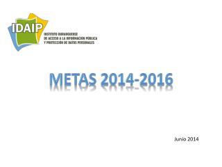 METAS  2014-2016