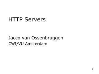 HTTP Servers