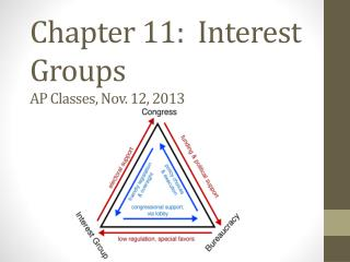 Chapter 11:  Interest Groups AP  Classes, Nov. 12, 2013