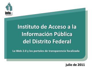 Instituto de Acceso a la Información Pública del Distrito Federal