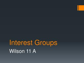 Interest Groups