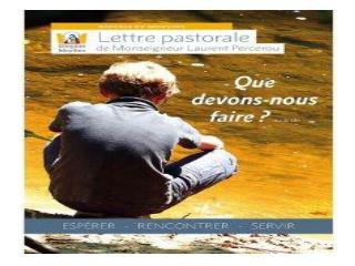 Pourquoi une lettre pastorale