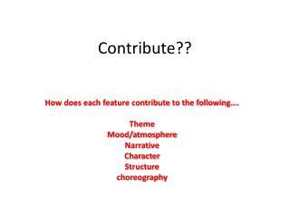Contribute??