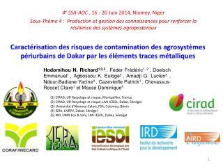 4 e  SSA-AOC , 16 - 20 Juin  2014,  Niamey, Niger