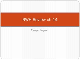 RWH Review  ch  14