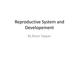 Reproductive System and  Developement
