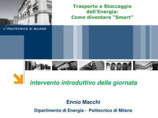 intervento introduttivo della giornata Ennio Macchi