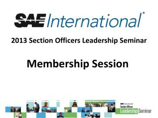 2013 Section Officers Leadership Seminar