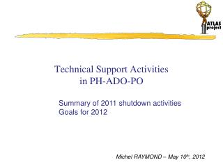 Technical Support Activities in PH-ADO-PO