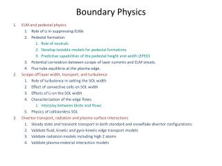 Boundary Physics