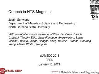 WAMSDO 2013 CERN January 15, 2013