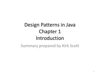 Design Patterns in Java Chapter 1 Introduction