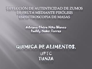 Adriana  E lvira Niño Blanco Ruddy Nabir  Torres