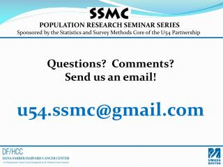 POPULATION RESEARCH SEMINAR SERIES