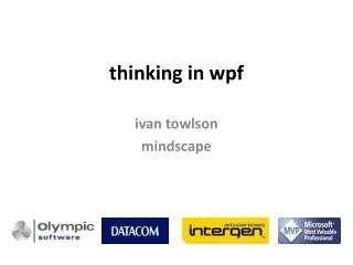 thinking in  wpf