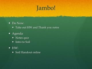 Jambo !