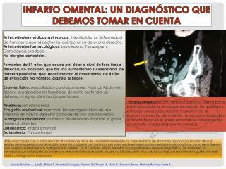 INFARTO OMENTAL: UN DIAGNÓSTICO QUE DEBEMOS TOMAR EN CUENTA
