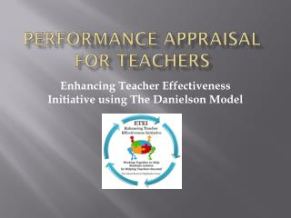 Performance Appraisal for Teachers
