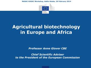 Agricultural biotechnology  in Europe and Africa