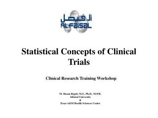 Statistical Concepts of Clinical Trials
