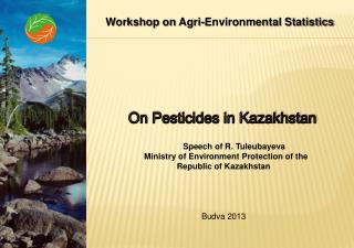 On Pesticides in Kazakhstan