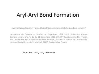 Aryl-Aryl Bond Formation