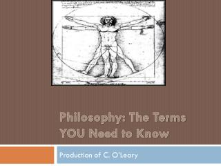 Philosophy:  The Terms YOU Need to Know