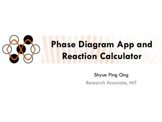 Phase Diagram App and Reaction Calculator