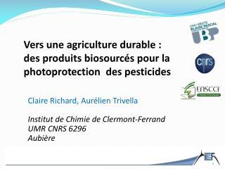 Vers une agriculture durable:  des  produits  biosourcés pour la