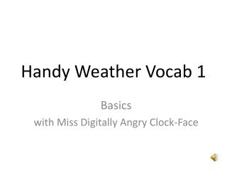 Handy Weather Vocab 1