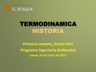 TERMODINAMICA HISTORIA