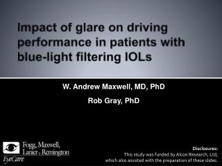 Impact of glare on driving performance in patients with blue-light filtering IOLs
