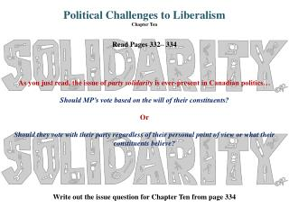 Political Challenges to Liberalism Chapter Ten