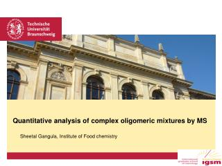 Quantitative analysis of complex oligomeric mixtures by MS