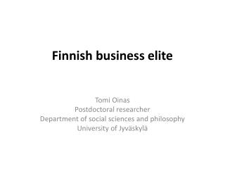 Finnish business elite