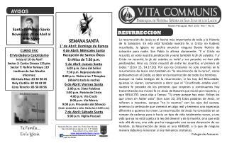 Boletín Parroquial  Abril  2012  Año 1  No.13