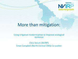 More than mitigation: