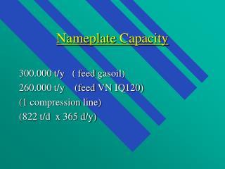 Nameplate Capacity