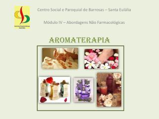 Centro Social e Paroquial de Barrosas – Santa Eulália Módulo IV – Abordagens Não Farmacológicas
