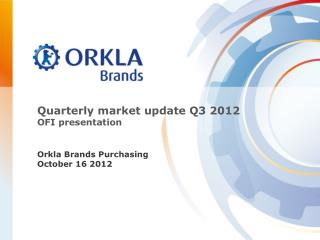 Quarterly market update  Q3  2012 OFI presentation