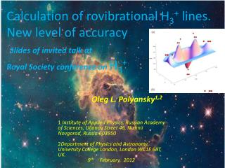 Calculation of  rovibrational  H 3 +  lines. New level of  accuracy Slides of invited talk at