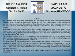 HEAPHY 1 & 2 DIAGNOSTIC Suzanne HENWOOD