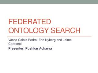 Federated Ontology Search