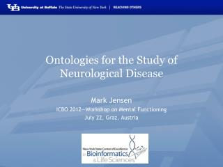 Ontologies for the Study of Neurological Disease