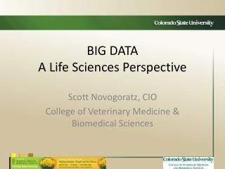 BIG DATA A Life Sciences Perspective