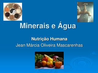 Minerais e  gua