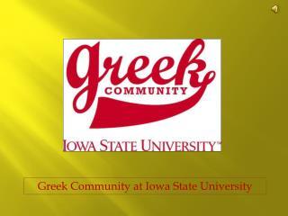 Greek Community at Iowa State University